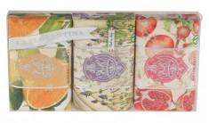 LA FLORENTINA Набор натурального мыла (цитрус, лаванда, гранат) / Citrus, Lavender, Pomegranate 3*200 г