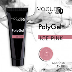 Vogue Nails, PolyGel, Ice Pink, 60 мл