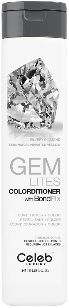 CELEB LUXURY Кондиционер тонирующий корректирующий цвет, серебристый бриллиант / Gem Lites Silvery Diamond Colorditioner 244 мл