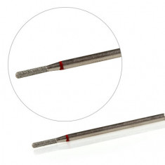 KrasotkaPro, Фреза алмазная «Цилиндр закругленный» D=1,6 мм L=8 мм, красная