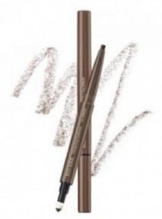 Карандаш для бровей 3 в1 THE SAEM Eco Soul Designing Eyebrow 01 Brown 0,2г+0,12г