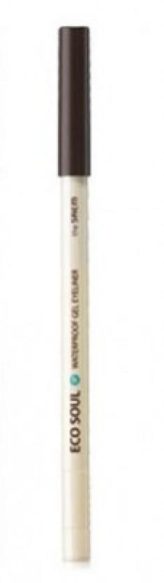 Карандаш для глаз водостойкий гелевый THE SAEM Eco Soul Waterproof Gel eyeliner 13 Dark Coffee Brown 0.5г