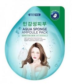 Маска-крем ампульная для чувствительной кожи с гиалуроновой кислотой, центеллой и пептидами FRIENVITA Aqua Sponge Sensitive 28 г