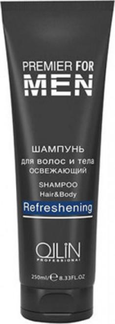 Шампунь для волос и тела освежающий Shampoo Hair&Body Refreshening OLLIN PREMIER FOR MEN 250мл