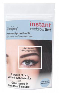 GODEFROY Краска-хна синтетическая в капсулах для бровей, коричневая / Eyebrow Tint Medium Brown 1 шт