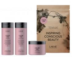 LAKME Набор дорожный для защиты цвета окрашенных волос (шампунь, кондиционер, маска) / TRAVEL PACK COLOR STAY