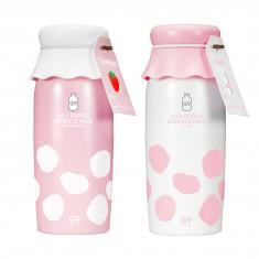 пузырьковая маска-эссенция с молочными протеинами berrisom milk bubble essence pack
