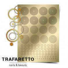 Trafaretto, Металлизированные наклейки GM-02, золото