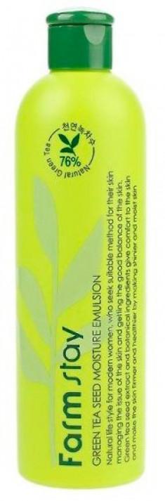 FARMSTAY Эмульсия увлажняющая с семенами зеленого чая 300 мл