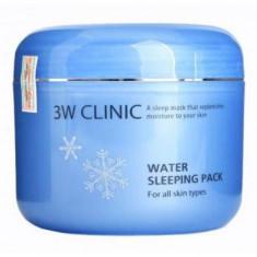 маска увлажняющая для лица ночная 3w clinic water sleeping pack