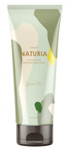 EVAS Скраб для тела Зеленый чай / NATURIA CREAMY OIL SALT SCRUB Green Tea 250 г