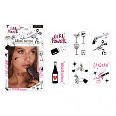 Miami Tattoos, Переводные тату Girl Power, 6 листов
