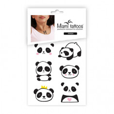 Miami Tattoos, Переводные мини-тату Panda, 1 лист