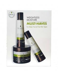 MACADAMIA PROFESSIONAL Набор Увлажнение для тонких волос (шампунь 100 мл, кондиционер 100 мл, маска 222 мл) WEIGHTLESS MOISTURE MUST-HAVES KIT