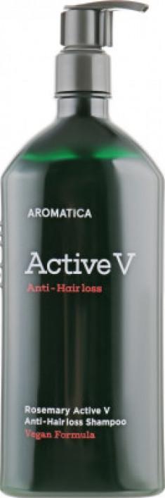 Шампунь против выпадения волос Rosemary Active V Anti-Hair Loss Shampoo 400мл AROMATICA