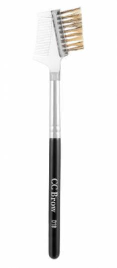 Кисть для бровей двойная с расчёской CC Brow D18