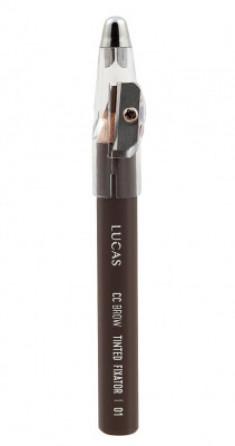 Восковый карандаш для бровей CC Brow TINTED WAX FIXATOR 01 серо-коричневый