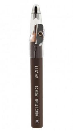 Восковый карандаш для бровей CC Brow TINTED WAX FIXATOR 03 коричневый