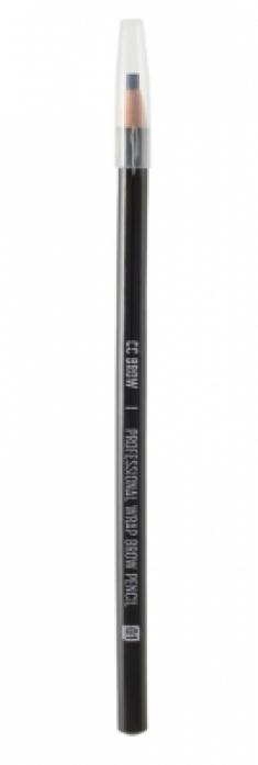 Карандаш для бровей CC Brow Wrap brow pencil 01 черный
