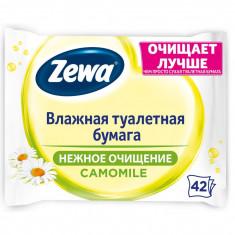 Zewa Бумага туалетная влажная Ромашка 42листа