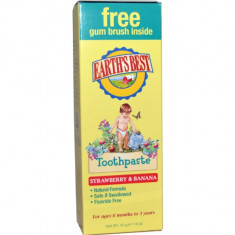 Earths Best Зубная паста детская Клубника и Банан 45г