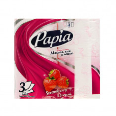 Туалетная бумага HAYAT PAPIA strawberry dream белая с ароматом и рисунком 4 рулона