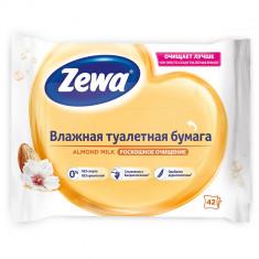 Zewa Бумага туалетная влажная Миндальное молочко 42листа