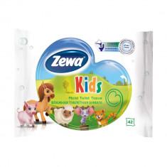 Zewa Бумага туалетная влажная Детская 42листа