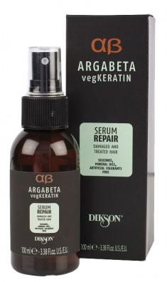DIKSON Сыворотка с гидролизированными протеинами риса и сои для ослабленных и химически обработанных волос / ARGABETA Serum REPAIR 100 мл