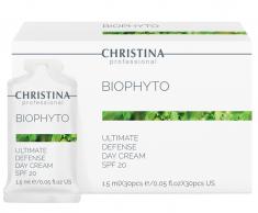 CHRISTINA Крем дневной Абсолютная защита SPF 20, в индивидуальном саше / Bio Phyto-Ultimate Defense Day Cream SPF-20 sachets kit 1,5 мл х 30 шт
